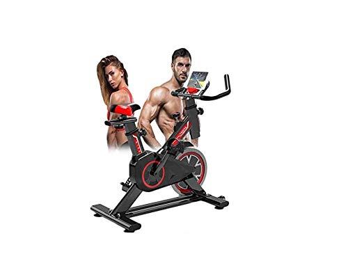 Lloow Bicicleta estacionaria, Spin Indoor Soleado Salud y Fitness Bicicleta de Ciclismo con sensores de Pulso de Mano, Dispositivo de Entrenamiento de Pierna aeróbica con Tableta para Personas