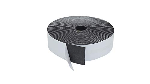 """1/8 in 2 Inches Foam Tape for Pipe Insulation, Stripping Window and Door. Tape Adhesive Freezer Seal Collection. High-Density AC Insulation Black Closed Cell HVAC Automotive (1/8"""" X 2"""" X 30')"""