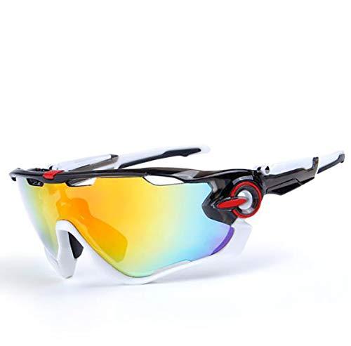 Gafas de sol polarizadas para ciclismo al aire libre Gafas de pesca, blanco y negro,
