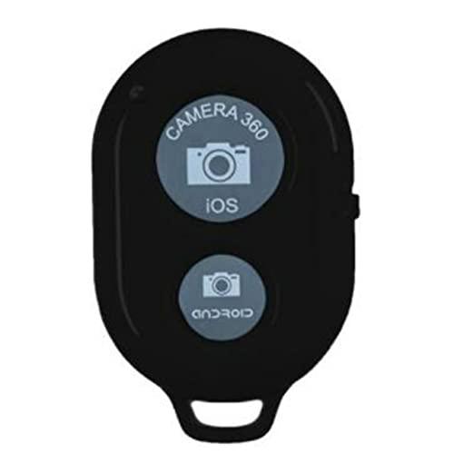 MARSPOWER Manufatto selfie per telefono cellulare senza fili, telecomando per otturatore selfie senza fili Bluetooth 4.0, sistema IOs Android compatibile - nero
