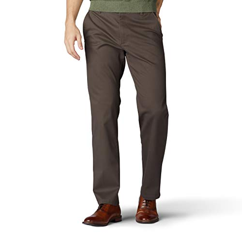LEE Men's Performance Series Extreme Comfort Straight Fit Pant, Tea Leaf, 36W x 34L