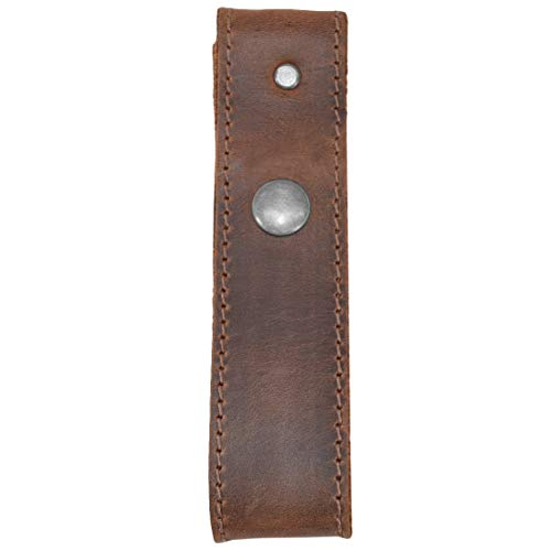 Hide & Drink, Rustic Leather Whip Holster/Belt Loop Bullwhip Holder Handmade Includes 101 Year Warranty :: Bourbon Brown