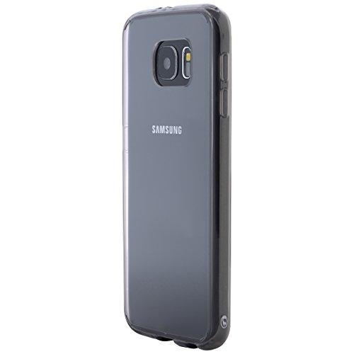 Ultratec Funda protectora híbrida para smartphone / carcasa con borde de TPU de color para Samsung S6, con funda con cremallera, transparente/gris