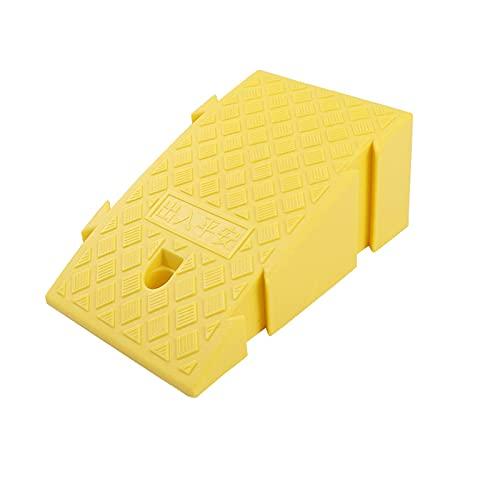 Paso De Plástico Rampa Multifuncional Cuesta Arriba Servicio De Almohadillas Rampas Rampas para Sillas De Ruedas Portátiles Antideslizantes(Size: 45 * 25 * 19CM,Color: Yellow)