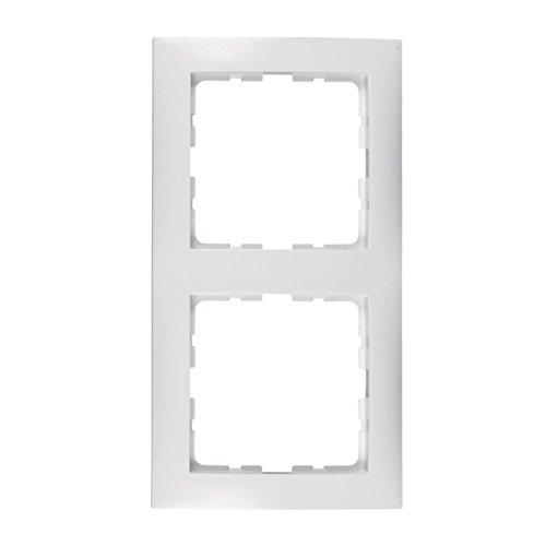 Berker 10128989 ORIGINAL Abdeckrahmen Verblendung Umrahmung polarweiß glänzend zweifach senkrecht waagerecht Montage Unterputz Steckdosen Lichtschalter Wohnrauminstallation