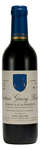 Bordeaux Supérieur 1993 - Erlesener französischer Merlot Blend Jahrgangswein - Rot, Trocken, Frankreich - Kleine Flasche (375ml)