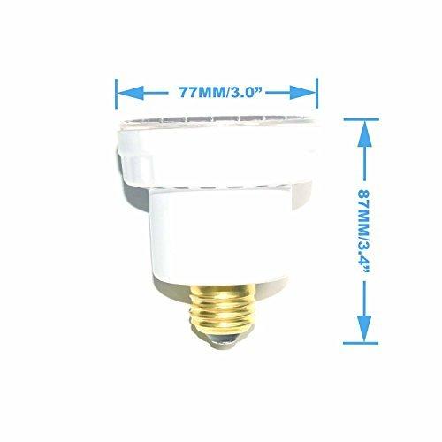 LAMPAOUS LED Pool Lights Bulb, RGB Muliti Color LED Spa Lights, E26 Edison Screw Spa Bulb Replacement Bulb 120VAC 15 Watt