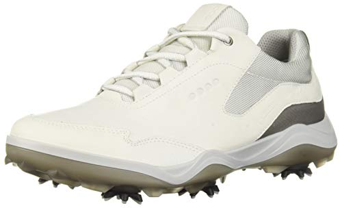 ECCO Men's Strike Gore-TEX Golf Shoe, White Yak Leather, 11-11.5