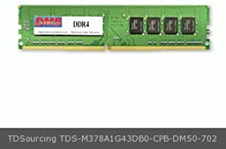 DMS Compatible/Replacement for TDSourcing M378A1G43DB0-CPB Dell TDSourcing OptiPlex 7040 8GB DMS Certified Memory DDR4-2133 (PC4-17000) 1024x64 CL15 1.2v 288 Pin DIMM - DMS