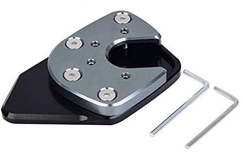 Delaman moto antiscivolo Cavalletto laterale Cavalletto estensione Pad zoom Compatibile con la Honda NC750X 17-18 (Colore : Grigio)