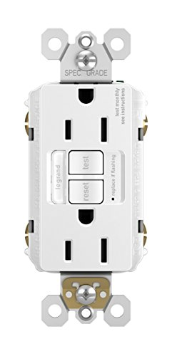 Legrand - Pass & Seymour radiant 1597NTLTRWCCD4 15 Amp Combination LED Night Light/Tamper-Resistant Self-Test GFCI Safety Outlet, White