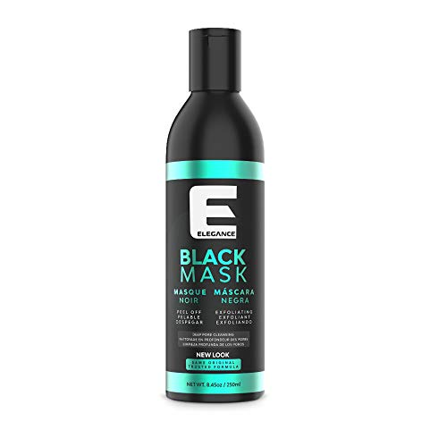 Elegance Black Peel-Off Facial Mask, Blackhead Removal Face Mask, Deep Cleansing Facial Treatment, 8.45 oz