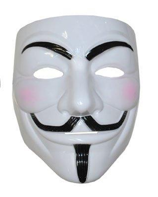 Maschera di Anonymous, dal film V per Vendetta, in plastica