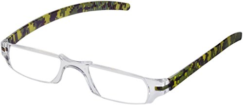 Fisherman Eyewear Slim Vision Rimless Reading Glasses, Camouflage (+2.00)