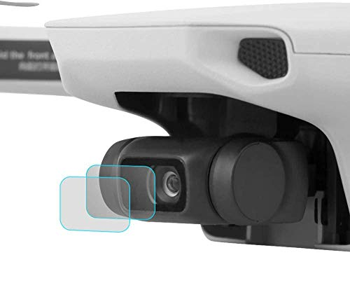 TUTUO 2 Pack Lente de la cámara Película para dji Mini 2 / Mini, Protectora de Vidrio Templado, Láminas Protectoras de Pantalla Resistentes a los arañazos Protective Film para Mavic Mini Serie Drone