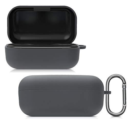 kwmobile Custodia Protettiva per Caricatore compatibile con Sennheiser Momentum Wireless - Resistente Cover Box Portauricolari grigio scuro