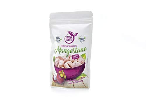 WOW FRUITS Gefriergetrocknete Mangostane Getrocknete Mangostane ohne Zucker 100% Gefriergetrocknete Früchte (Vegan Glutenfrei Laktosefrei) Getrocknete Früchte Snacks (25g)