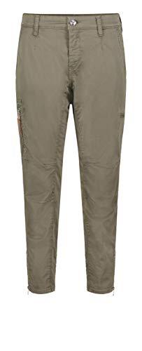 MAC Jeans Damen Rich Cargo Cotton Hose, 677R Olive Night PPT, 38/28