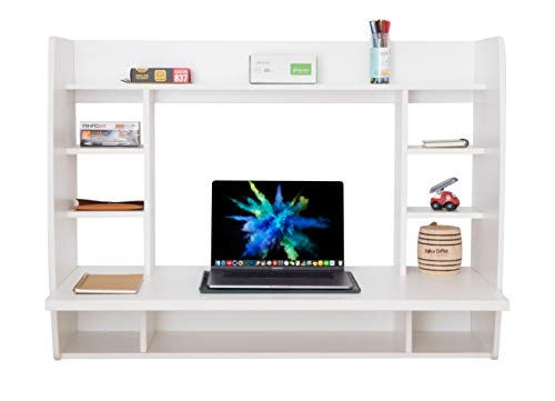 Basicwise Office Desk With Shelves