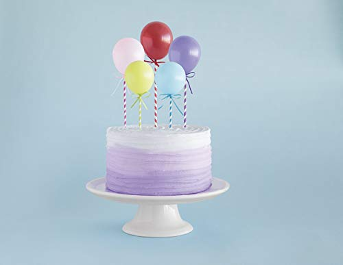 Unique Party 61785 - Mini Balloon Stick Cake Toppers, Assorted Pack of 5