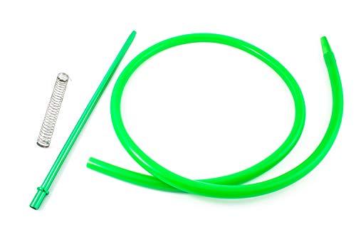 Manguera para cachimba shisha - Incluye muelle y boquilla de materiales premium con acabados excepcionales (Verde)