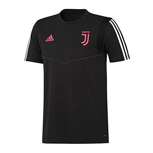 adidas Juventus Tee, Maglietta da Calcio A Maniche Corte Uomo, Nero/Dkgrey, S