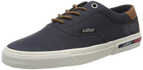 s.Oliver Herren 5-5-13609-24 Sneaker, Blau (Navy 805), 43 EU
