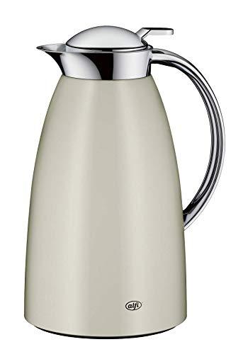 alfi Thermoskanne Gusto, Edelstahl beige 1L, alfiDur Glaseinsatz, auslaufsicher, Isolierkanne hält 12 Stunden heiß, 3561.294.100 ideal als Kaffeekanne oder als Teekanne, Kanne für 8 Tassen
