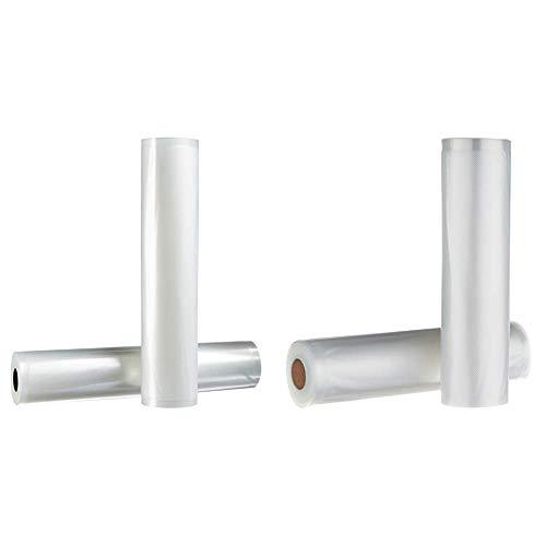 AmazonBasics 30 cm x 600 cm, 2 Rollen für Vakuumierer & 22 cm x 500 cm, 2 Rollen für Vakuumierer