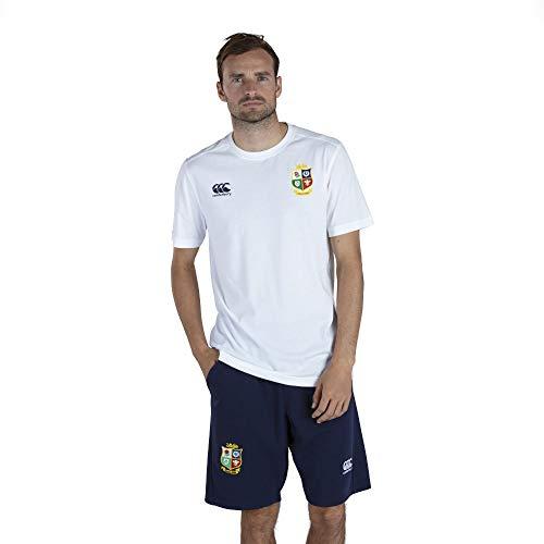 Canterbury of New Zealand Herren T-Shirt British and Irish Lions Baumwolle Jersey Bright White, M
