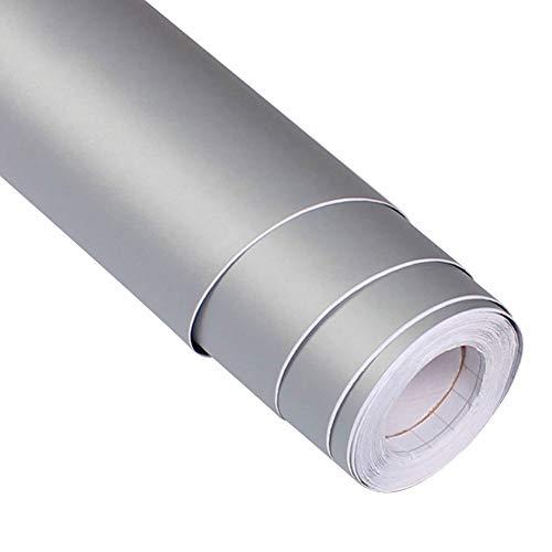 Adhesivo de vinilo mate para muebles, cocina, dormitorio, 3 m, Yizunnu, pvc, gris, 61x300cm