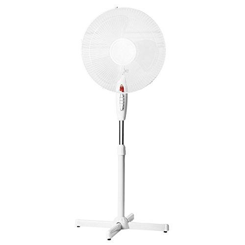 Lex Standventilator Ø 40cm 40 Watt weiß Höhenverstellbar bis 130cm ✓ Oszillierend ✓ Nachtlicht | Großer Standlüfter Ventilator Windmaschine Leiser Betrieb