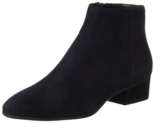 Aquatalia Women's Fuoco Suede Ankle Boot, Navy, 5.5 M US