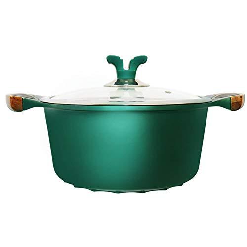 Olla sopa con tapa, cuencos sopa con asas, revestimiento antiadherente, olla de aluminio fundido a presión 24 cm - Estofado de Olla