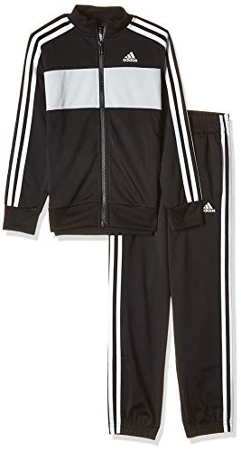 adidas Jungen Tiberio Trainingsanzug, Black/Grey/White, 176