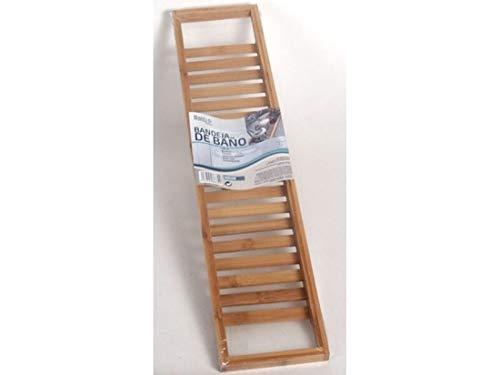 Luxe Bamboe Badrekje 66x14cm - Bamboo Bad brug - Badkuip Plank voor in Bad - Boekenhouder/Tablethouder – Hout
