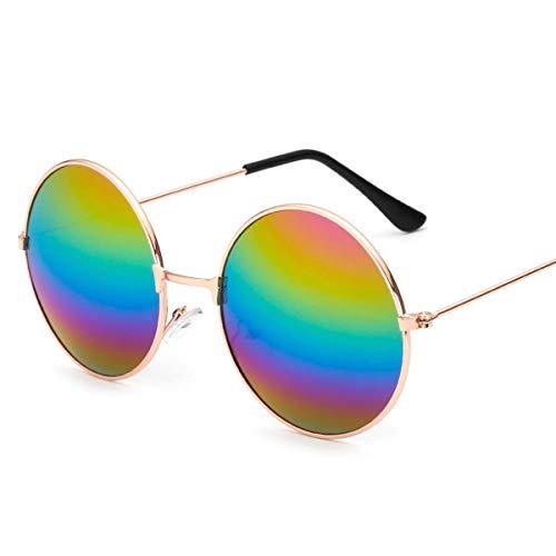 Yi-xir diseño Clasico Retro Rhythm Aviator Piloto Gafas Gafas de Sol Coloración Reflectante Película Moda (Color : 5)