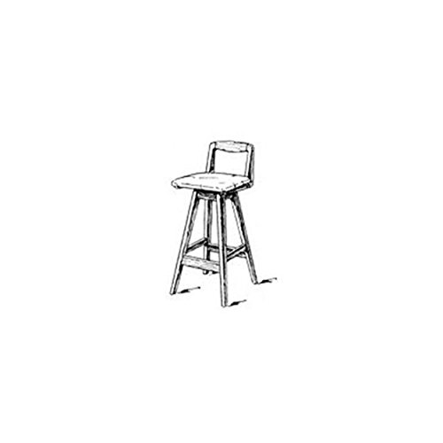 Woodworking Project Paper Plan to Build Swivel Bar Stool with Back