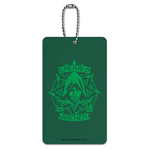 Arrow TV Series Emerald Archer Luggage Card Suitcase Carry-On ID Tag