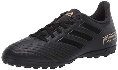 adidas Men's Predator 19.4 Turf Soccer Shoe, Black/Black/Utility Black, 10 M US