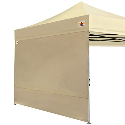 ABCCANOPY Instant Canopy SunWall (15+Colors) for 10x10 Feet, 10x20 Feet Straight Leg pop up Canopy, 1 Pack Sidewall Only, Beige