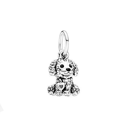 Pandora Pudel-Welpe Charm-Anhänger, Silber, 1,2cm, 798871C01