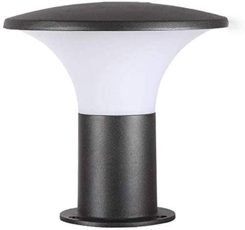 Lámpara De Pedestal Exterior Retro E27 Jardín Negra Aluminio Y Acrílico Patio...