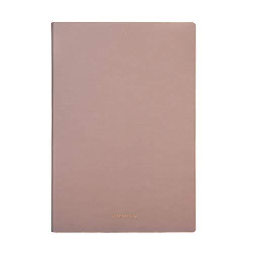 Cuadernos de redacción Espesar Bloc de Notas Conferencia de Negocios Libro de Registro A5 Diario Sencillo de Cuero Retro Portátil Suministros de Oficina Papel (Color : Brown, tamaño : 21 * 14.3cm)