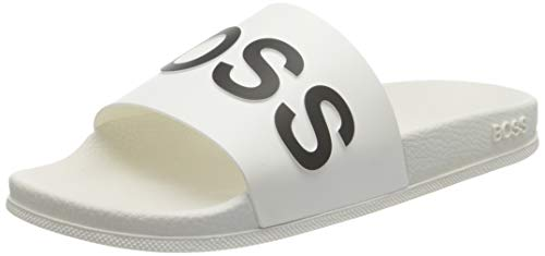 BOSS Damen Bay_Slid_rblg Pantolette, White100, 40 EU