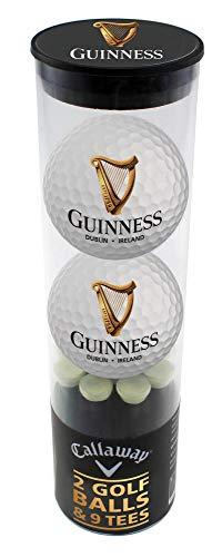 Golfbälle und Golf Tee Geschenkset mit Logo Design | Golfzubehör von Guinness