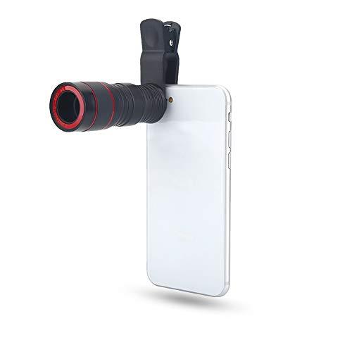 Telefoon Camera - Telefoon Monoculaire Lens 12 Times Focusing Smartphone Telescope Mini Draagbare Outdoor Rood