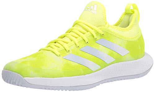 adidas Men's Defiant Generation Tennis Shoe, Solar Yellow/Halo Blue/White, 13