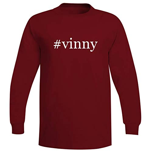 #Vinny - A Soft & Comfortable Hashtag Men's Long Sleeve T-Shirt, Red, Large