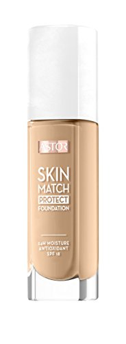 Astor Skin Match Protect Make Up, sand, Farbe 201, 1er Pack (1 x 30 ml)